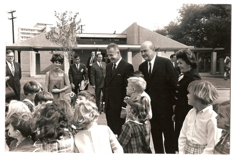 Callier Hearing and Speech Center Dedication (Vice President Spiro T. Agnew, Erik Jonsson and children)